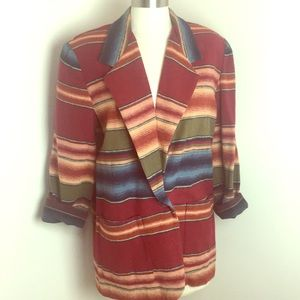 VTG 90s Wool Native Oversized Blazer